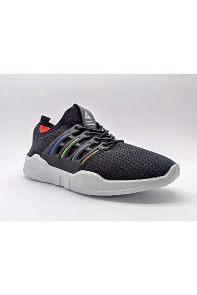 GEZER Unisex Çocuk Mikrofiber Sneaker Rahat Taban Bağcıksz Giyimi Kolay 6 Ay Garantili Koyu Lacivert
