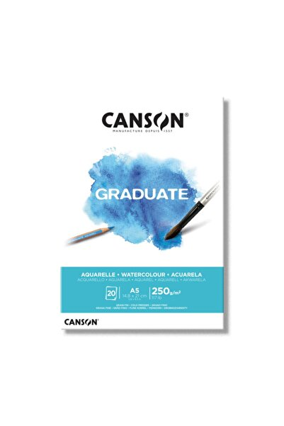 Canson Graduate Sulu Boya Defteri Blok 250 Gr. A5 20 Sayfa