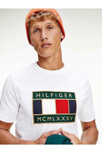 Tommy Hilfiger Relaxed Global Flag Erkek Tshirt