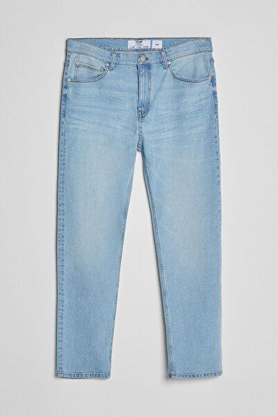 Bershka Erkek Açık Mavi Uzun Slim Fit Jean 00289787