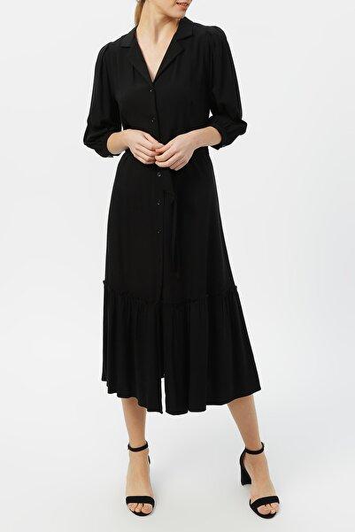 RANDOM Kadın Truvakar Kol Belden Bağlamalı Elbise %100 Vıscon