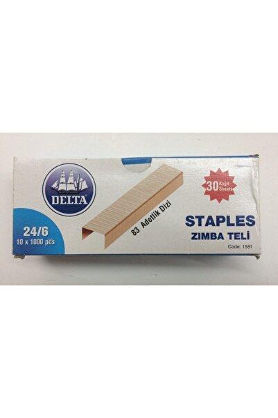 Delta Bakır Zımba Teli 24 6 1000'lik 10 Kutu 10000 Adet