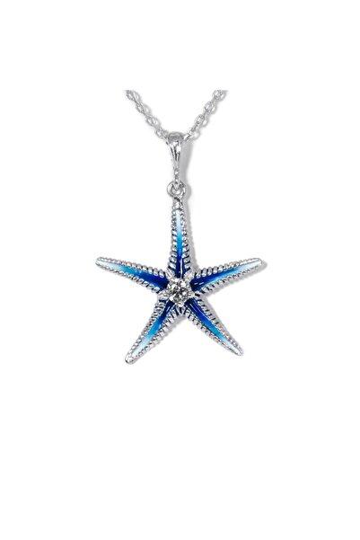 Od Takı Sanatı O.d. Takı Sanatı Mavi Deniz Yıldızı 925 Ayar Gümüş Mineli Kolye - Oğuz Doğanay'ın Muhteşem Renkleri