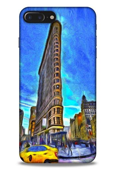 Lopard Apple Iphone 7 Plus Kılıf Dünya Mimarisi (7) Telefon Kılıfı Flat Iron New York
