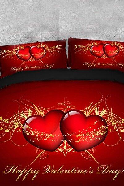 Çeyizci Sevgililer Günü Nevresim Takımı Aşk Temalı Çift Kişilik Nevresim Takımı