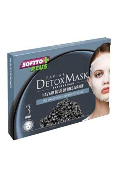Softo Plus Softto Plus Kağıt Maske 3 Lü Havyar Özlü Detoks