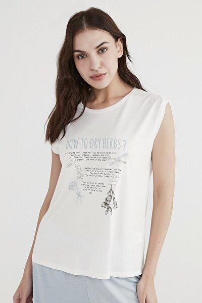 Penti Kadın  Beyaz Dry Herbs Tişört