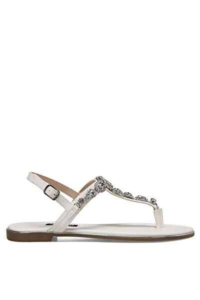 Nine West Beyaz Kadın Sandalet