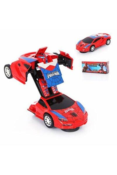 Mashotrend Spiderman Işıklı Sesli Açılır Araba - Örümcek Adam Açılır Araba - Transformers Robot Araba