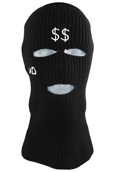 zirve şapka Kışlık Ünisex 3 Gözlü Kar Maskesi Siyah Sad Dolar
