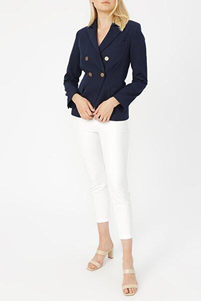 RANDOM Kadın Düğmeli Klasik Ceket %92 Polyester %8 Elastane
