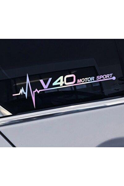 Modatools Volvo V40 Yan Cam Sticker Oto Kapı Çıkartma Renk Değiştiren 20 cm X 7 cm