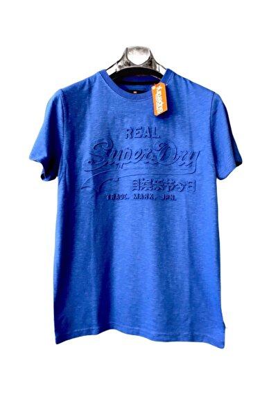 SUPERDRY Basic Pullover Erkek Mavi T-shirt