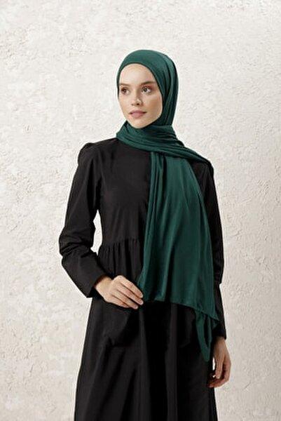 Kadın Zümrüt Yeşili Penye Şal