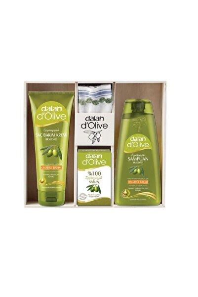 Dalan Dolive Ahşap Set 400 Ml Şampuan + 200 Ml Saç Kremi + Sabun