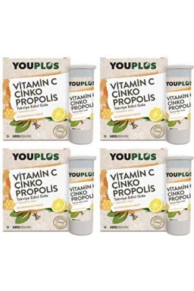 Youplus Vitamin C Çinko Propolis 20 Efervesan Tb 4'lü Skt:06/22