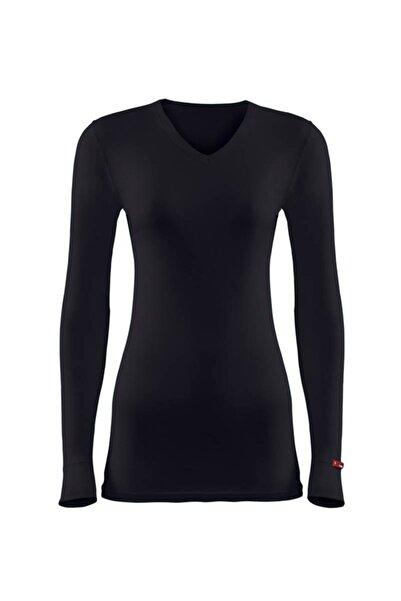 Blackspade Kadın V Yaka Termal Uzun Kol Tişört