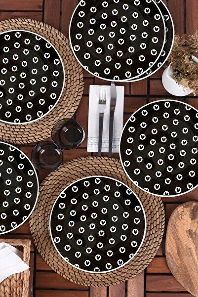Keramika Full Keyf Servis Tabağı Siyah 26 Cm 6 Adet