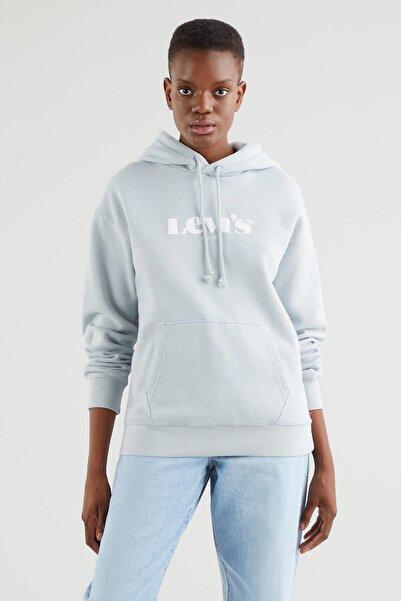 Levi's Kadın Kapüşonlu Inci Gri Sweatshirt