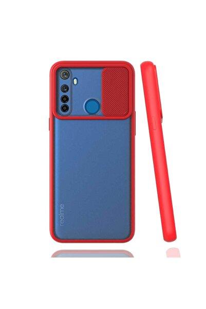 Oppo Realme Realme 6i Uyumlu Kılıf Kaydırmalı Kamera Korumalı Pastel Renkler