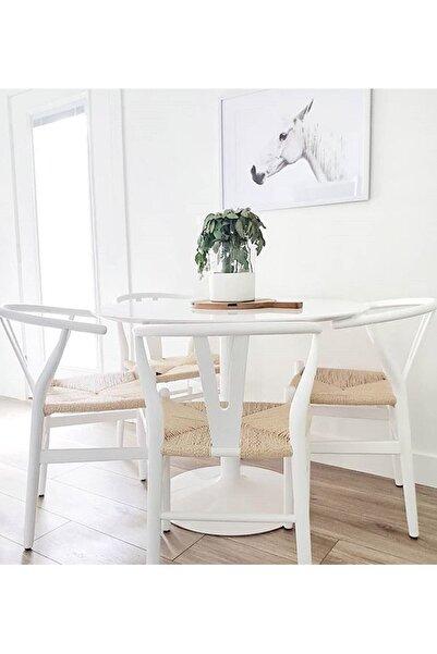 Sandalye Online Wishbone Ahşap Iskandinav Sandalye Beyaz
