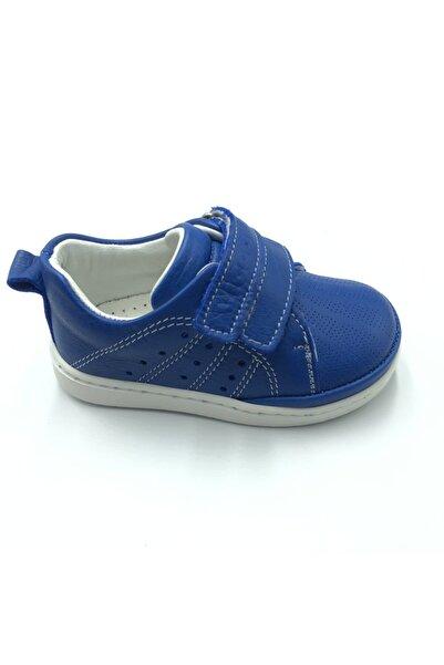 Vicco Unisex Ilk Adım Saks Mavi Deri Ayakkabı