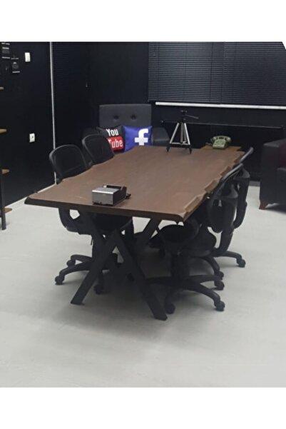 NT Concept Masif Doğal Ağaç Toplantı Ve Ofis Masası(85cm-160cm)