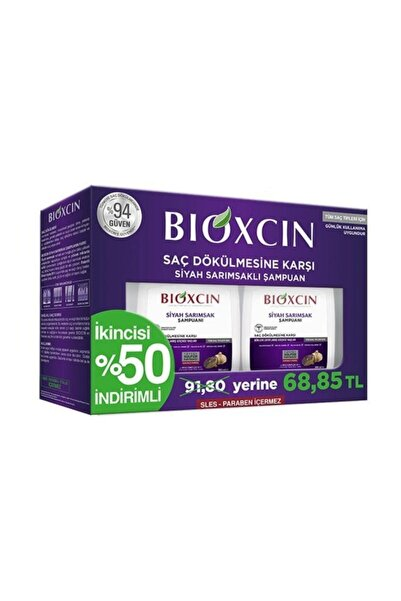 Bioxcin Siyah Sarımsaklı Şampuan 2'li Paket 300 Ml