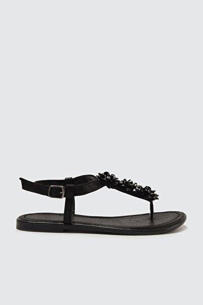 TRENDYOL SHOES Siyah Kadın Sandalet TAKSS21SD0017