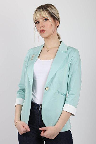 Nadin Pamuk Turkuaz Blazer Ceket