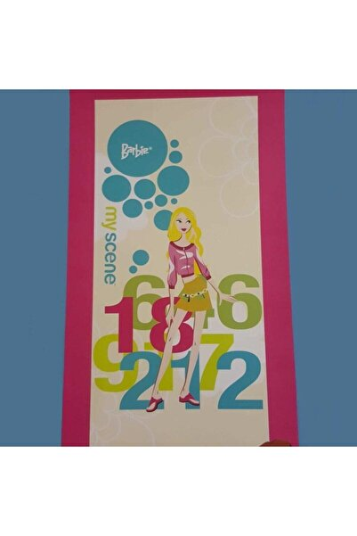 Özdilek Barbie Pembe Lisanslı Plaj Havlusu