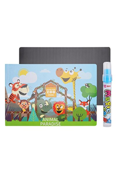 Mofy Baby Magic Water Sihirli Boyama Kitabı 3d Animasyonlu Özel Plaka Ve Kalemli Hayvanlar Alemi
