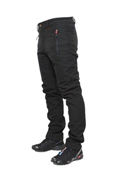 DRC Outdoor Unisex Siyah  Softshell Su Rüzgar Geçirmez Polarlı Pantolon