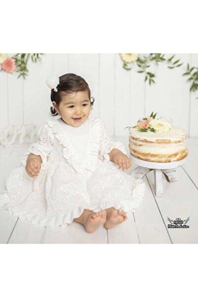 Le Mabelle Beyaz Fisto Kız Çocuk Elbise - Adele
