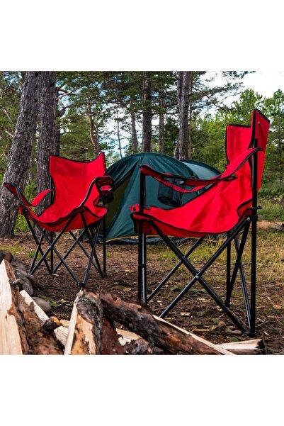 Simple Living Katlanır Kamp, Plaj Ve Piknik Sandalyesi - Kırmızı