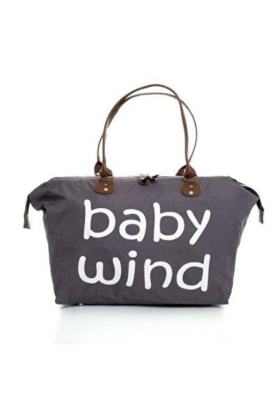 bebegen Füme Baby Wind Baskılı Geniş Hacimli Anne Bebek Bakım Omuz Çantası