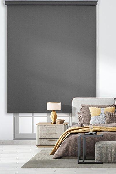Rengin Home Mat Koyu Gri Kalın Stor Perde