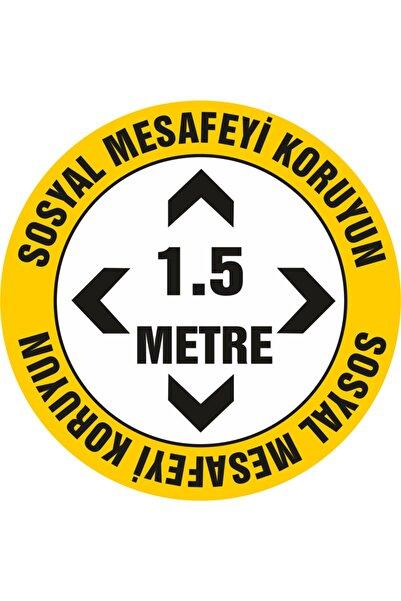 efe afiş Sosyal Mesafe Etiketi Stecker Folyo Yapıştırma 20x20 ( 10 Adet)