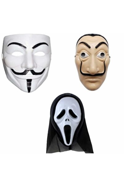 Pippa 3 Lü Maske Seti Vandetta La Casa De Papel Çığlık