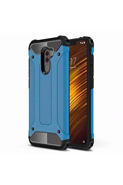 Xiaomi Microsonic Pocophone F1 Kılıf Rugged Armor Mavi