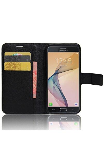 Samsung Microsonic Cüzdanlı Deri Galaxy J7 Prime 2 Kılıf Siyah