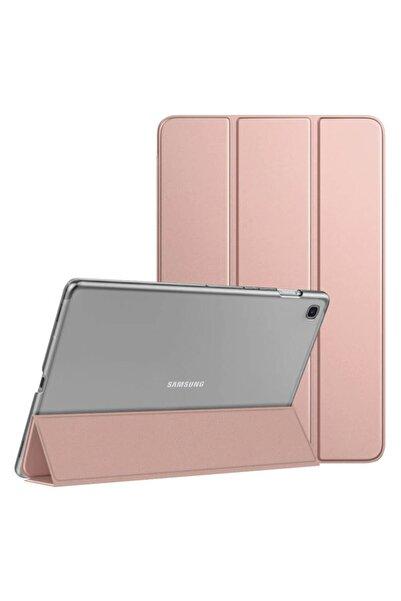 Samsung Microsonic Galaxy Tab A7 T500 Kılıf Slim Translucent Back Smart Cover Rose Gold