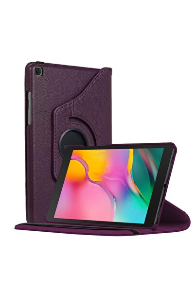"Samsung Microsonic Galaxy Tab A 8"" 2019 T290 Kılıf 360 Rotating Stand Deri Mor"