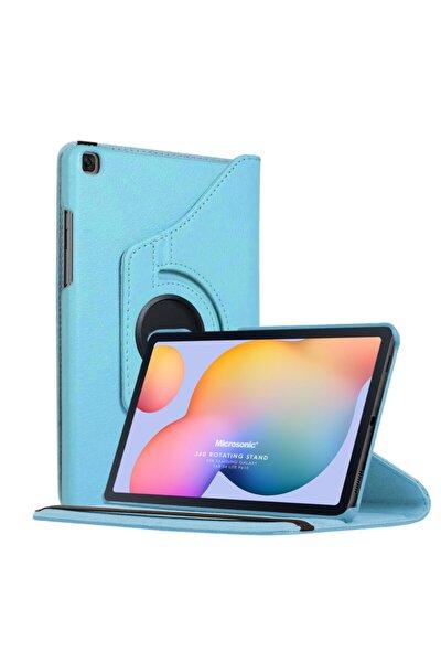 "Microsonic Microsonic Galaxy Tab S6 Lite 10.4"" P610 Kılıf 360 Rotating Stand Deri Mavi"