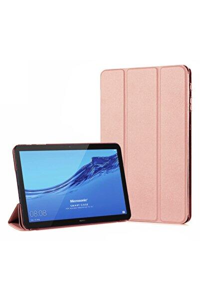 Huawei Microsonic Mediapad T5 10 Smart Case Ve Arka Kılıf Rose Gold