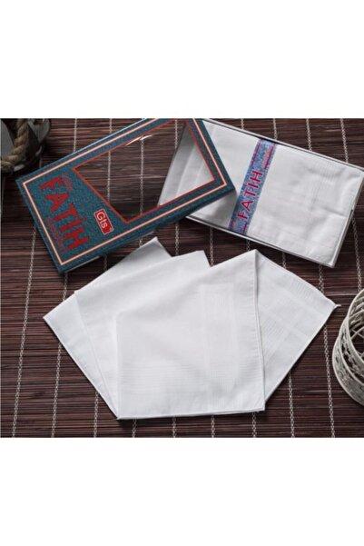 Hepsine Rakip Gözde Fatih Kutulu 40x40 Cm 12 Adet Kumaş Mendil Beyaz