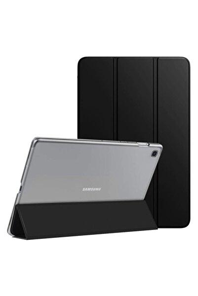 Samsung Microsonic Galaxy Tab A7 T500 Kılıf Slim Translucent Back Smart Cover Siyah