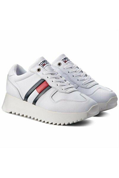 Tommy Hilfiger Kadın Sneaker - Beyaz