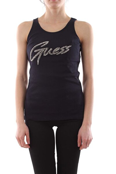Guess %100 Pamuklu Beyaz Kadın Kolsuz T-shirt