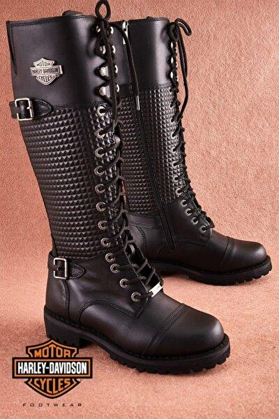 Harley Davidson Tiny Black Deri Kadın Çizme